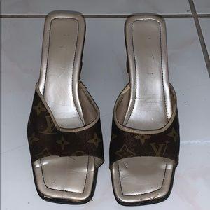 Louis Vuitton Square Toe Wedge